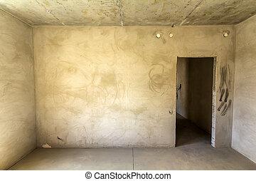 apartamento, sala, sob, interior, novo, renovação