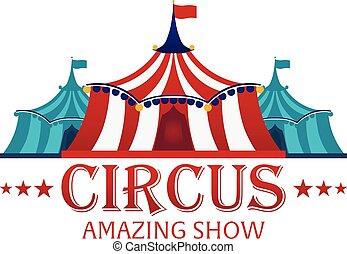 apartamento, show., illustration., barracas, circo, ...