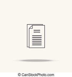 apartamento, sombra, papel, documento, ícone