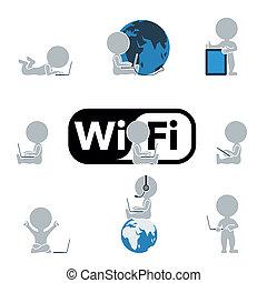 apartamento, tecnologia, internet, -, pessoas