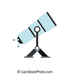 apartamento, telescópio, ícone