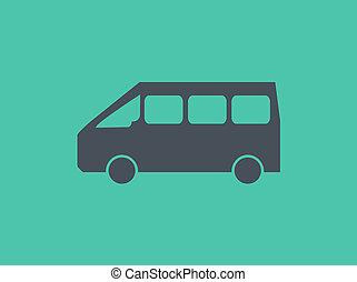apartamento, transporte, ícone
