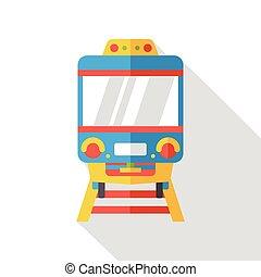 apartamento, trem, ícone