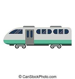 apartamento, trem, isolado, veículo