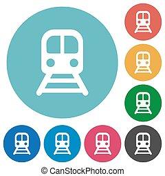 apartamento, trem, redondo, ícones