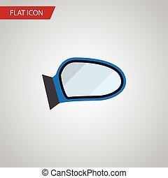 apartamento, usado, ser, automático, concept., componente, isolado, elemento, vetorial, desenho, lata, car, espelho, espelho, icon., asa