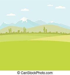 apartamento, uso, image., color., campo, fundo, paisagem ...