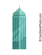 apartamento, vetorial, arranha-céu, ilustração, design.