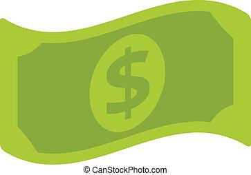 apartamento, vetorial, conta dólar, ícone