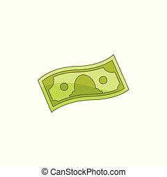 apartamento, vetorial, dinheiro, nota, dinheiro