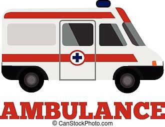 apartamento, vetorial, ilustração, ambulância