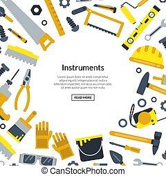 apartamento, vetorial, texto, ilustração, construção, lugar, ferramentas