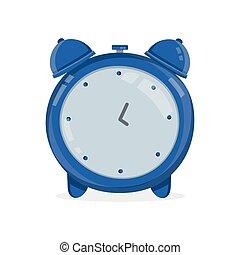 apartamento, vindima, alarme, modernos, clock., vetorial