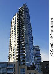 apartamentos, alto, oregon., nuevo, portland, subidas