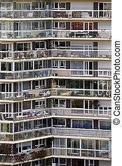 Apartment block in Paris - Public big apartment building in...