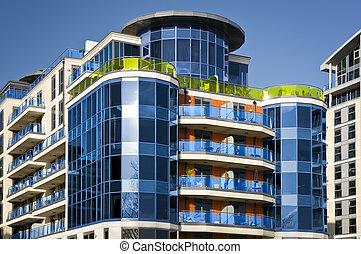 Apartment Block - Modern apartment building.