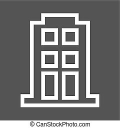 Apartment, building, block icon vector image. Can also be...