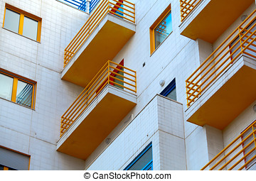 Apartment building exterior - modern house facade