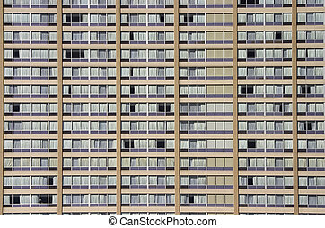 Apartment Building Face - A section of a very monotonous...