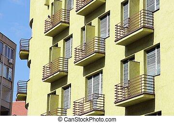 Apartment building in Europe