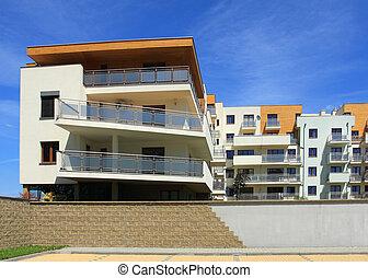 Apartment building - Modern apartment building. Freshly ...