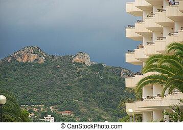 apartment building on the island mallorca