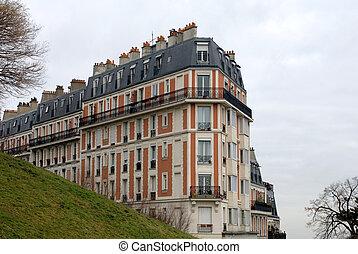 Apartment Building, Paris, France