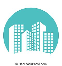 apartment building tower city urban icon vector illustration