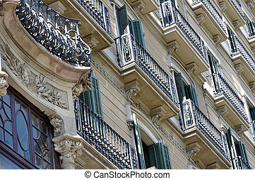 Apartment Buildings - Apartment Building Balcony Detail in ...