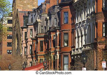 Apartment Buildings - Brownstone Buildings Neighborhood in ...