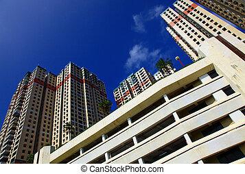 Apartment Buildings, Hong Kong. Day.
