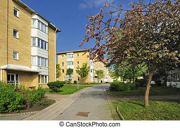 Apartment buildings in Stockholm.