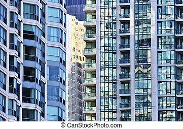 Apartment buildings - Tall condominium or apartment ...