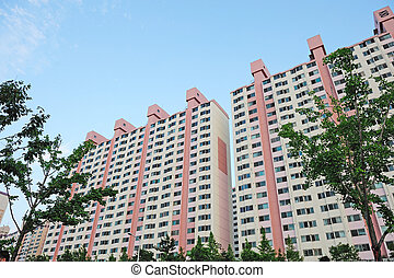 apartment complex - giant apartment complex in seoul korea