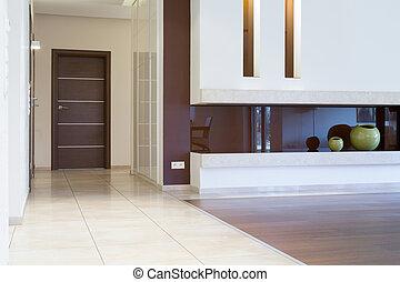 Apartment entrance inside modern interior
