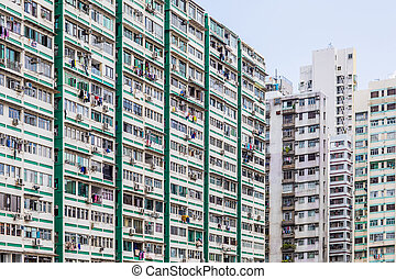 Apartment exterior in Hong Kong