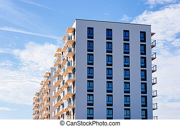Apartment house and home residential building real estate