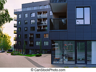 Apartment house building real estate outdoor