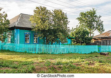 apartment house in the russian village