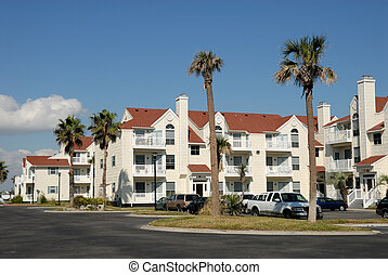 Apartment house in the southern United States