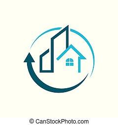 Apartment House Real Estate Home Realty logo design vector concept and idea