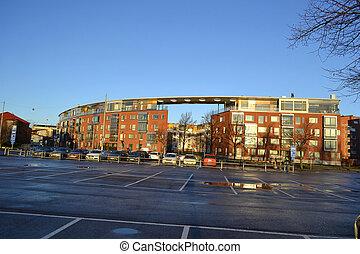 Apartment houses in Helsinki - Inhabited quarter in central...