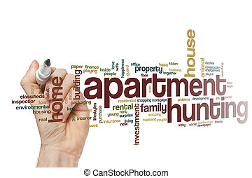 Apartment hunting word cloud