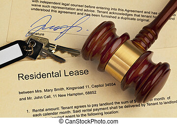Apartment keys and rental agreement - The key to an ...