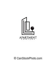 Apartment logo design inspiration vector template