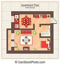 Apartment Plan Illustration
