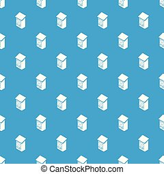 Apartment post box pattern vector seamless blue