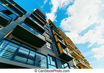 Apartment residential house and home building complex real estate