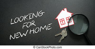 Apartment search. Real Estate Concept