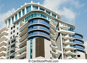 Apartments - An apartment building in Asia